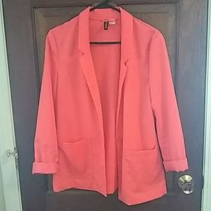 Coral womens light weight blazer